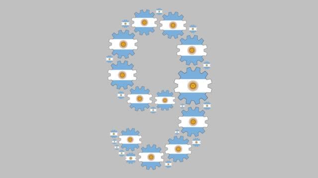 argentinische nummer neun - argentinische flagge stock-videos und b-roll-filmmaterial