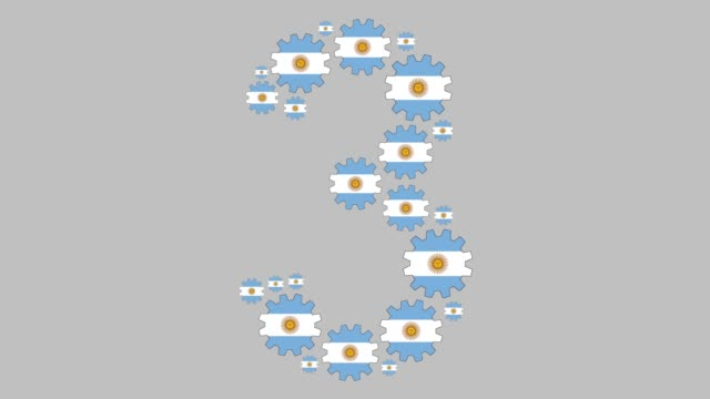 argentinian number three - argentinian flag stock videos & royalty-free footage