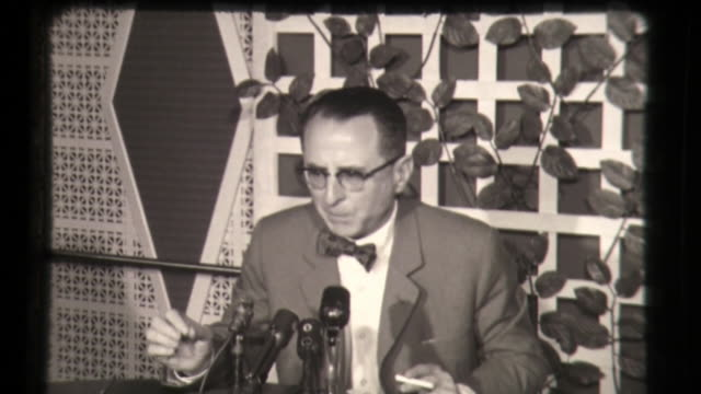 argentinian official talking about the capture of eichmann - nazism stock videos & royalty-free footage