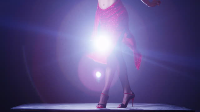 argentinian woman in red dress dancing flamenco - flamenco dancing stock videos and b-roll footage