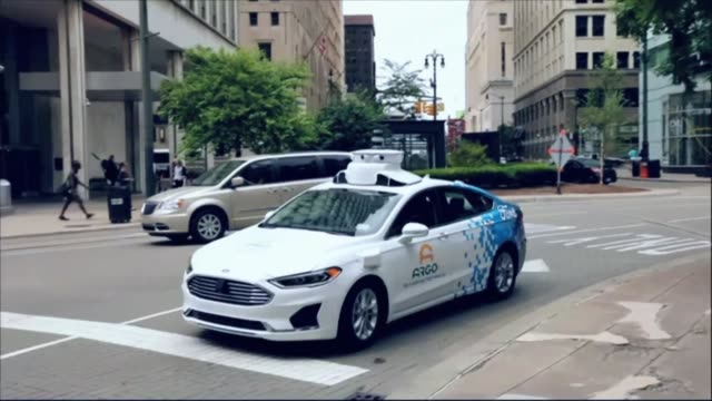 argo ai ford's partner in developing its self driving system launches test drives of its third generation of development prototypes in detroit - ford motor company stock videos & royalty-free footage