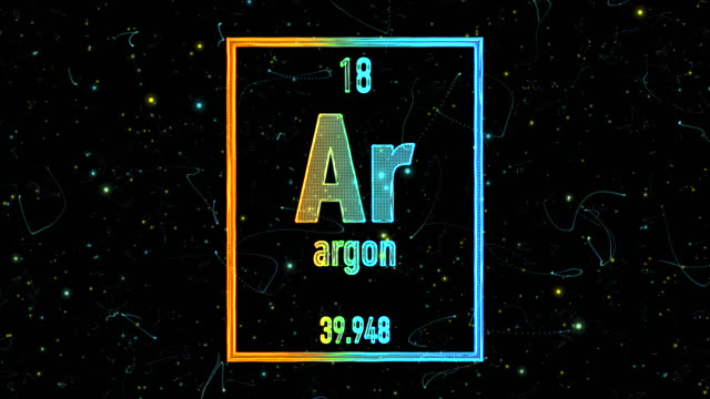 argon symbol as in the periodic table - symbol stock videos & royalty-free footage