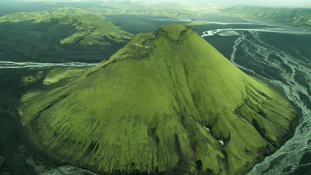 arial around mount keilir - iceland stock videos and b-roll footage