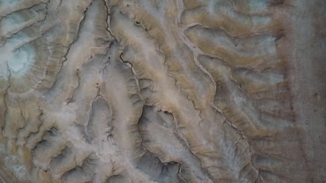 stockvideo's en b-roll-footage met arial shot of a deser gully - afghanistan