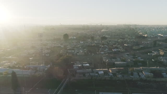 arial view of dobsonville/ soweto/ south africa - ソウェト点の映像素材/bロール
