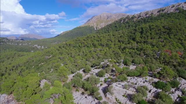 Arial View of mountain range of Serra de Tramuntana / Majorca - Spain