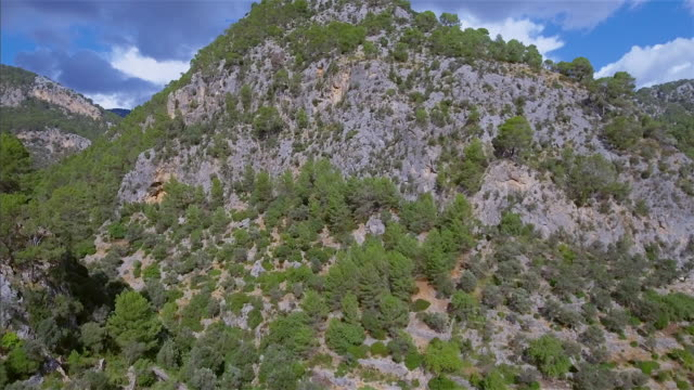 Arial View of mountain range on Serra de Tramuntana / Majorca - Spain