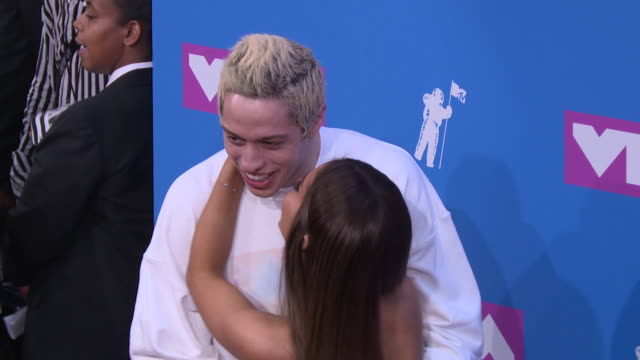 ariana grande and pete davidson at 2018 mtv video music awards at radio city music hall on august 20 2018 in new york city - ariana grande stock videos & royalty-free footage