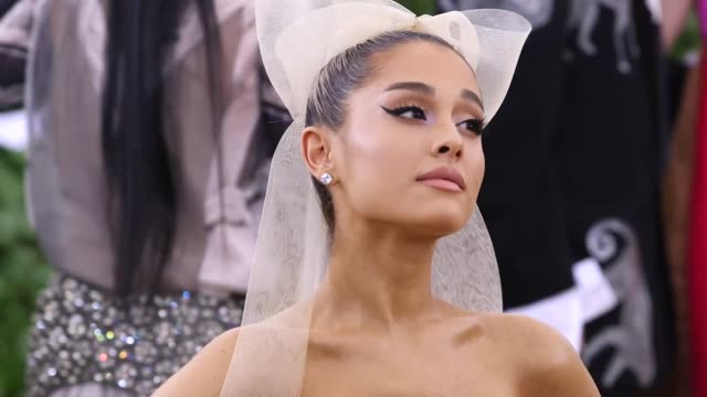 fashion the catholic imagination costume institute gala at the metropolitan museum of art on may 07 2018 in new york city - ariana grande stock videos & royalty-free footage