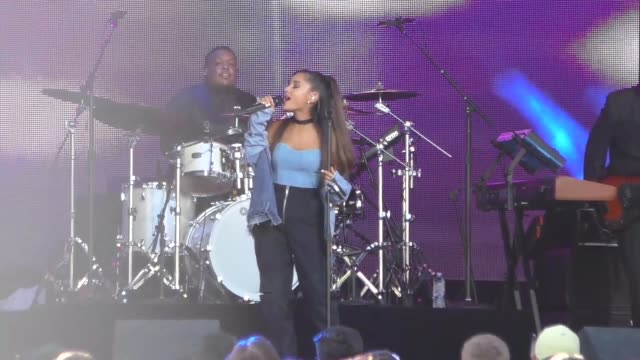 ariana grande performing on jimmy kimmel live in hollywood in celebrity sightings in los angeles - ariana grande stock videos & royalty-free footage