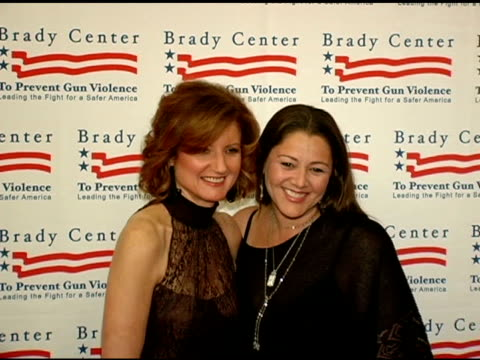 arianna huffington and camryn manheim at the brady center to prevent gun violence benefit at the beverly hilton in beverly hills, california on... - camryn manheim stock videos & royalty-free footage