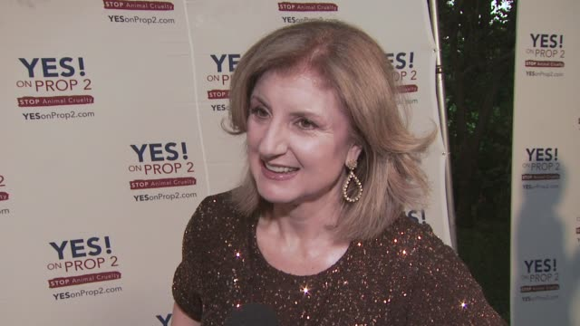 Arianna Huffington at the Ellen DeGeneres and Portia De Rossi host Yes On Prop 2 party at Los Angeles CA