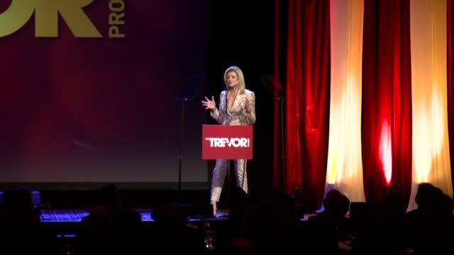 speech arianna huffington says that our times are calling for us to start living authentically stop hiding pretending to stop living in the shadows... - the trevor project stock videos and b-roll footage