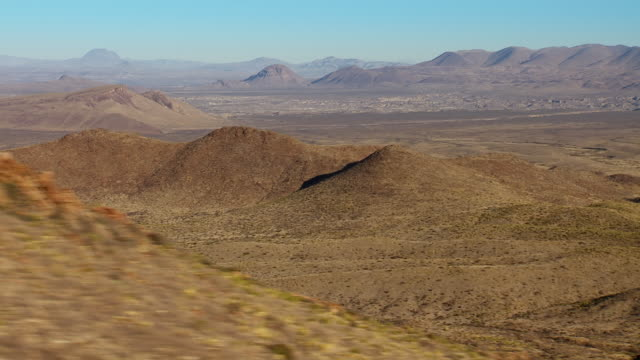 arid big bend landscape with paint gap hills and rosillos mountains. - basin and range province stock videos and b-roll footage