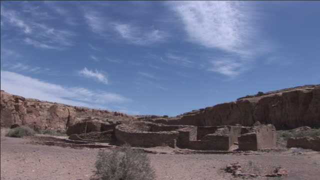 arid buttes overlook chaco culture national historical park. - chaco culture national historical park stock videos & royalty-free footage