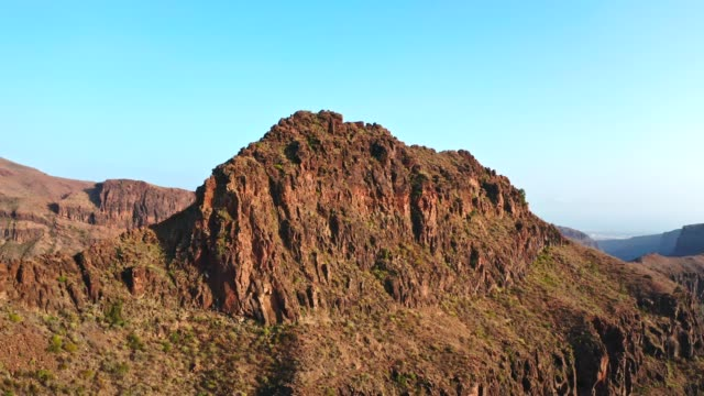 arid climate mountains of gran canaria. aerial view - grand canary stock videos and b-roll footage
