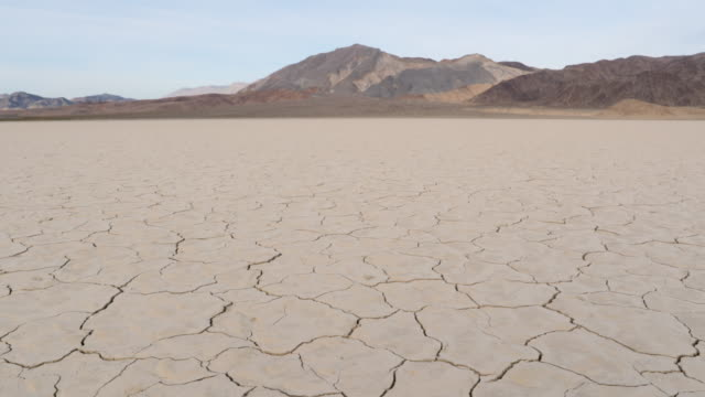 ds, ws arid, dry cracked earth in california - drought stock videos & royalty-free footage