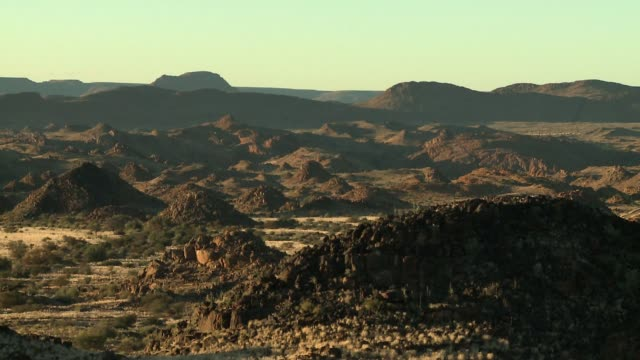 arid hills in the northern cape province of south africa. available in hd. - shrubland stock videos & royalty-free footage