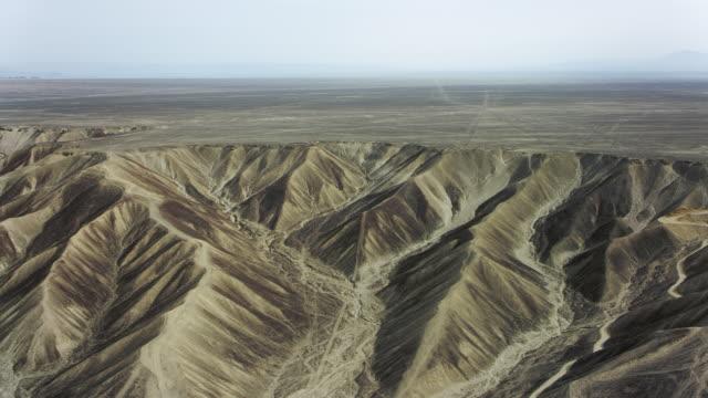 arid landscape at nazca lines peru - america del sud video stock e b–roll