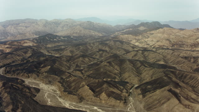 arid mountains in nazca desert peru - south america stock videos & royalty-free footage