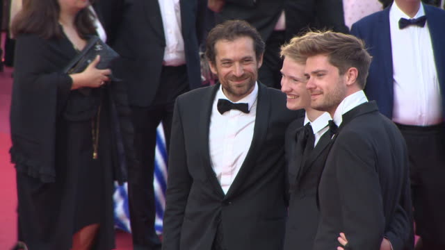 arieh worthalter, victor polster, lukas dhont at 'the man who killed don quixote' red carpet arrivals - closing film at the 71st annual cannes film... - 映画賞点の映像素材/bロール