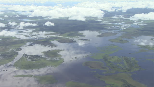 ariel footage of sepik river in papua new guinea - papua stock videos and b-roll footage