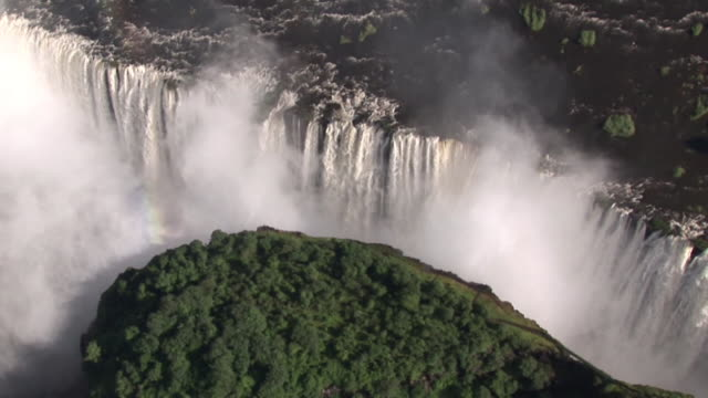 Ariel shot moving over Victoria Falls