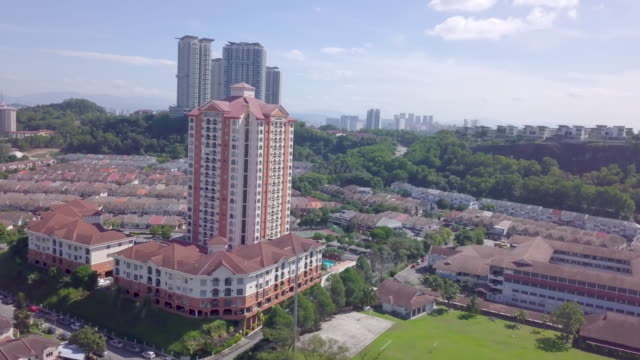 ariel view of real estate in asia - malaysia stock videos & royalty-free footage