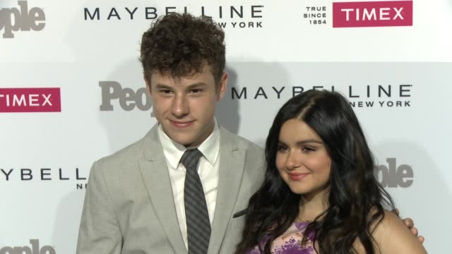 ariel winter and nolan gould at the people magazine's one's to watch celebration at ysabel on september 16 2015 in west hollywood california - ariel winter stock videos and b-roll footage
