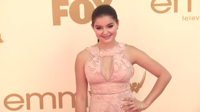 ariel winter at the 63rd primetime emmy awards arrivals part 1 at los angeles ca - エミー賞点の映像素材/bロール