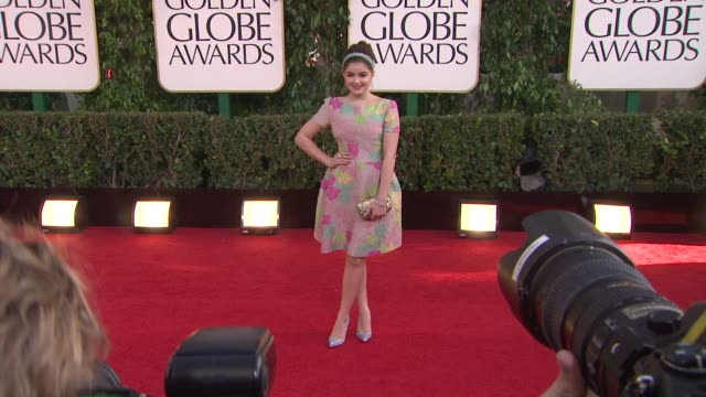ariel winter at the 70th annual golden globe awards - arrivals in beverly hills, ca, on 1/13/13. - golden globe awards stock videos & royalty-free footage