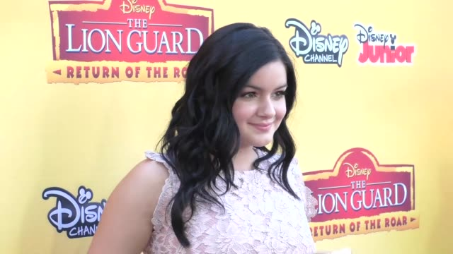 Ariel Winter at the Premiere Of Disney Channel's The Lion Guard Return Of The Roar at Walt Disney Studios in Burbank in Celebrity Sightings in Los...