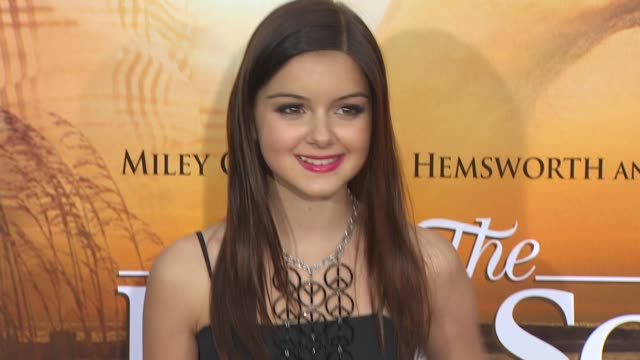 ariel winter at the 'the last song' premiere at hollywood ca - ariel winter stock videos and b-roll footage