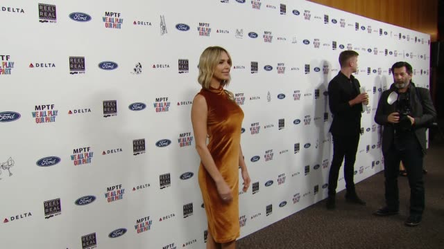 arielle kebbel at the 7th annual reel stories real lives event benefiting mptf at directors guild of america on november 08 2018 in los angeles... - director's guild of america stock videos & royalty-free footage