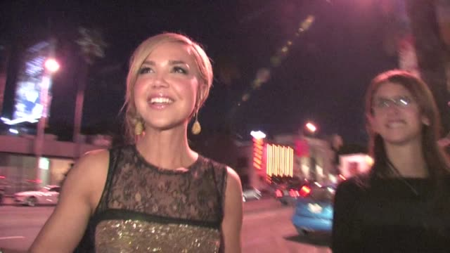 Arielle Kebbel greets fans at the Think Like A Man after party in Hollywood 02/09/12