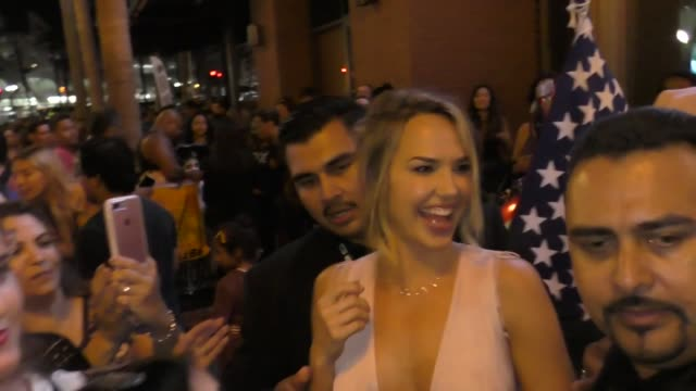 Arielle Kebbel greets fans outside the Hard Rock Hotel San Diego at San Diego ComicCon International 2018 at Celebrity Sightings at ComicCon on July...