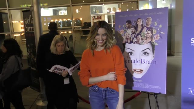 Arielle Vandenberg at The Female Brain premiere at ArcLight Cinemas in Hollywood in Celebrity Sightings in Los Angeles