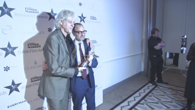stockvideo's en b-roll-footage met arinze kene bob geldof at evening standard film awards at claridge's hotel on december 08 2016 in london england - bob geldof