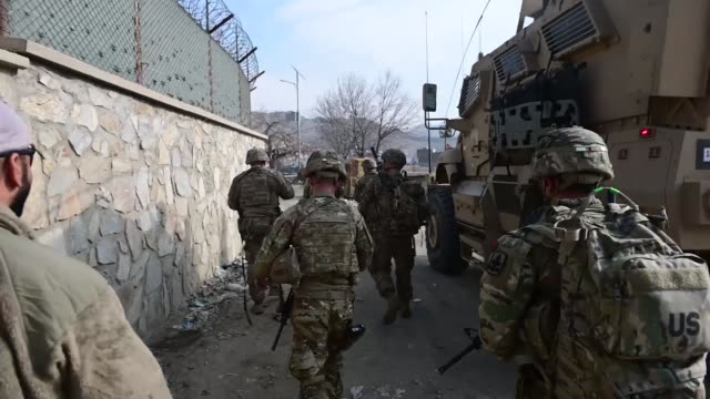 arizona army national guard soldiers, the bushmasters, perform missions while deployed in afghanistan, may 2019. - afghanistan stock videos & royalty-free footage