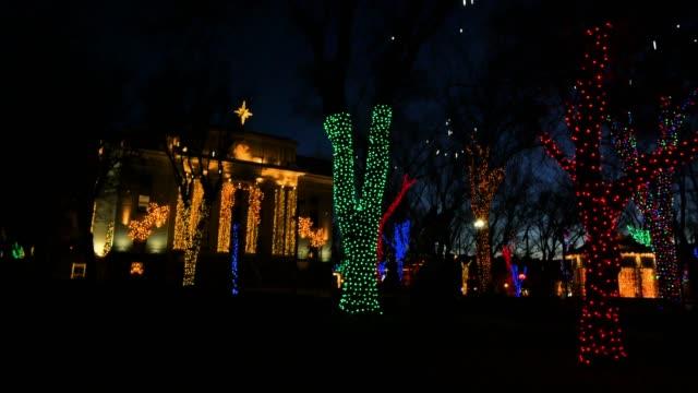 arizona christmas courthouse at night.mov - prescott arizona stock videos & royalty-free footage