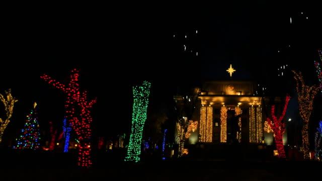 arizona christmas lights and courthouse pan.mov - prescott arizona stock videos & royalty-free footage