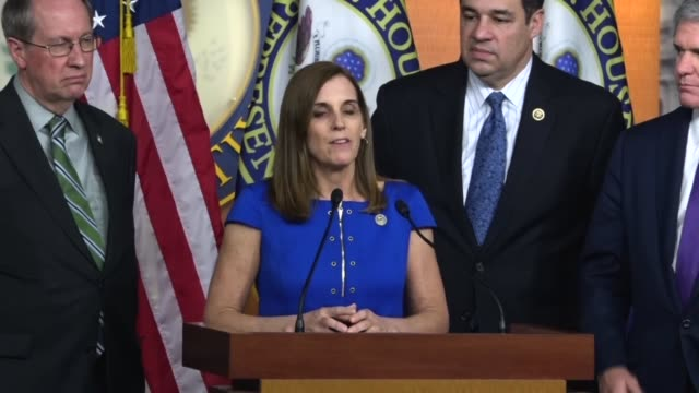 Arizona Congresswoman Martha McSally says at a news conference with Republicans that border security is so important to districts like here is a...