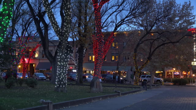 arizona courthouse in prescott at christmas.mov - prescott arizona stock videos & royalty-free footage