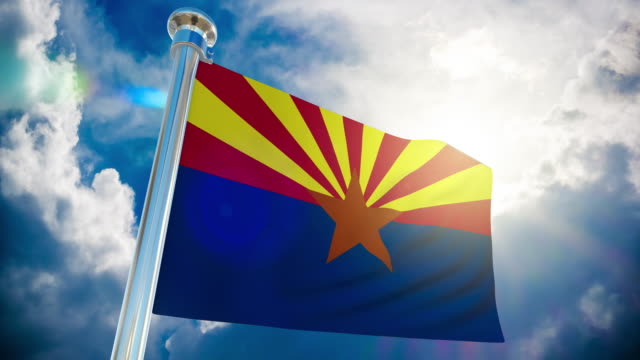 4k - arizona flag | loopable stock video - intricacy stock videos & royalty-free footage
