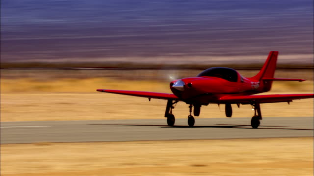 CU, TS, USA, Arizona, Grand Canyon, Lancair Legacy taking off from runway in desert