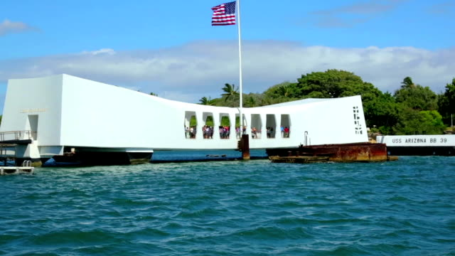 uss arizona memorial in pearl harbor - pearl harbor stock videos and b-roll footage