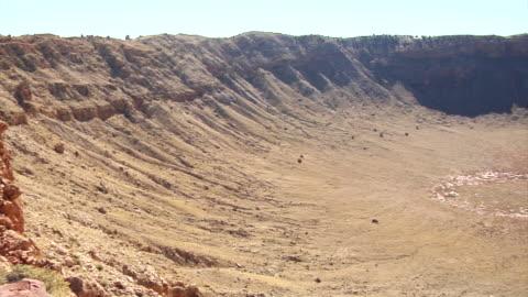 arizona meteor crater - natural landmark stock videos & royalty-free footage