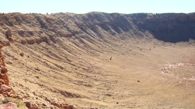 arizona meteor crater - natural landmark stock videos & royalty-free footage