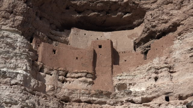 arizona montezuma castle close vista.mov - cliff dwelling stock videos & royalty-free footage