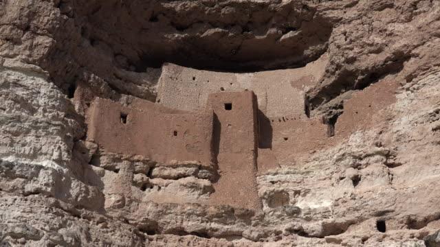 arizona montezuma castle close vista.mov - puebloan culture stock videos & royalty-free footage